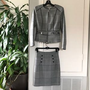 H&M Matching Houndstooth Jacket and Skirt Suits